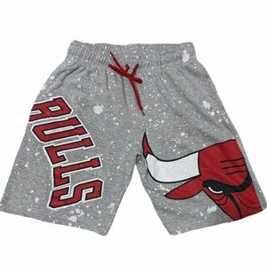 NBA Chicago Bulls Sweats Grey Shorts Mens Small